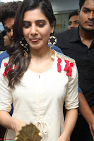 Samantha Ruth Prabhu Smiling Beauty in White Dress Launches VCare Clinic 15 June 2017 078.JPG