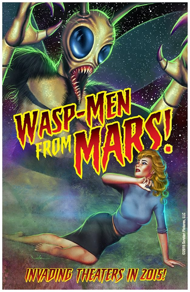 Wasp-Men From Mars Cover