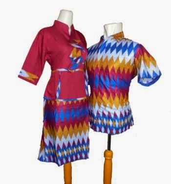 model baju batik dress couple