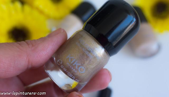 esmalte glitter dorado kiko