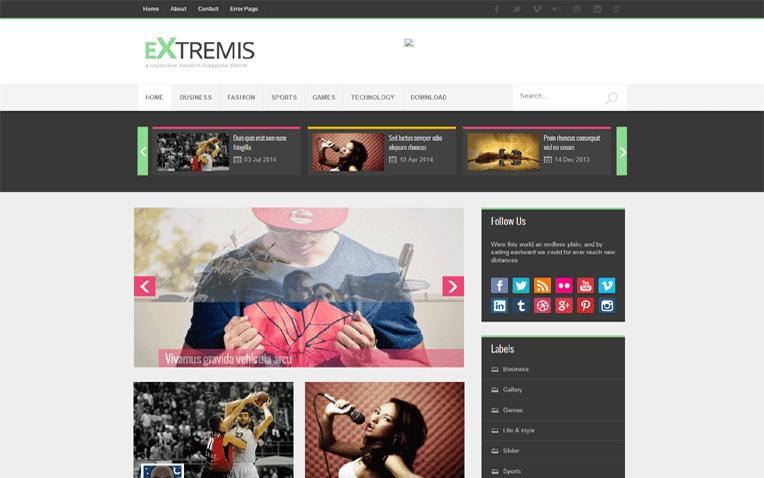 Extrimis Free Blogger Template