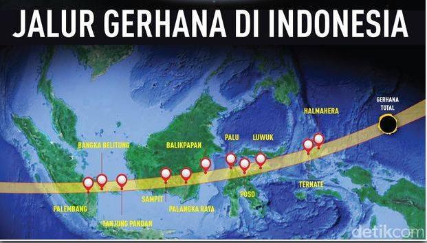Jam Berapa Shalat Gerhana 9 Maret? Ini waktu-waktunya se Indonesia