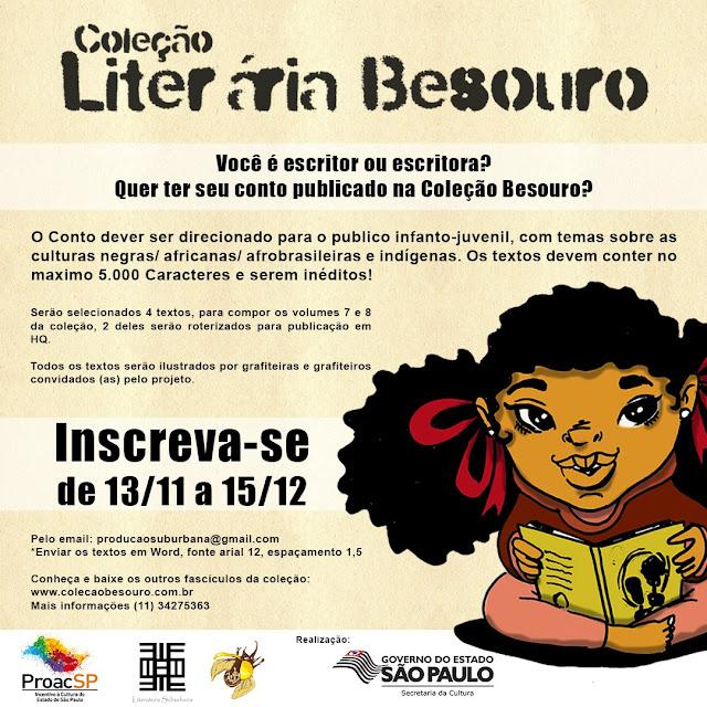 Coleção Besouro Convoca Escritores e Escritoras para próximas edições