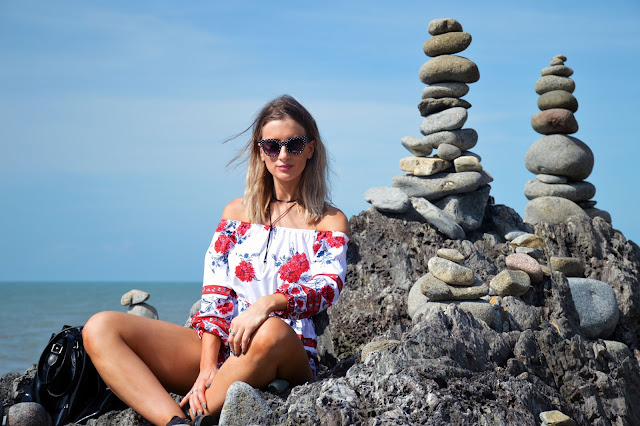 rock stacks fashion shoot