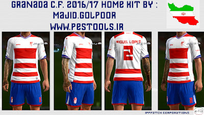 PES 2013 Granada 2016/17 Home Kit By Majid.glpr