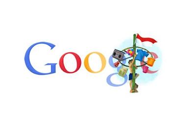 Google Doodle HUT RI Tahun 2011