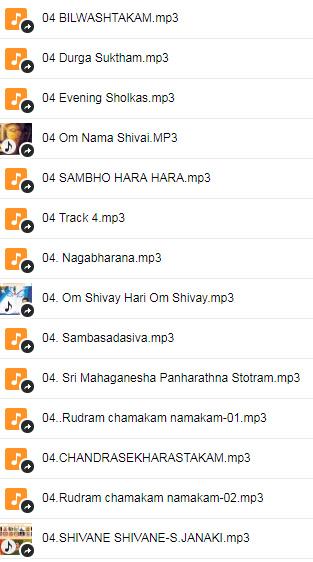 Shivai Singer Song List