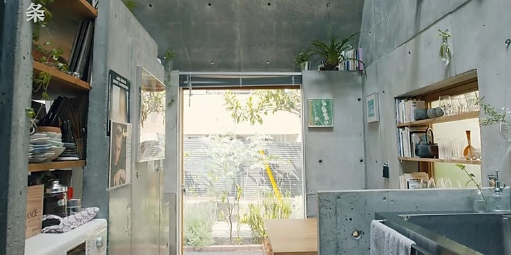 04-Length-of-the home-2-Takeshi-Hosaka-Tiny-Home-in-Japan-www-designstack-co