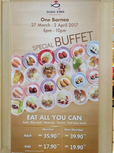 Sushi King Malaysia Special Buffet Promo