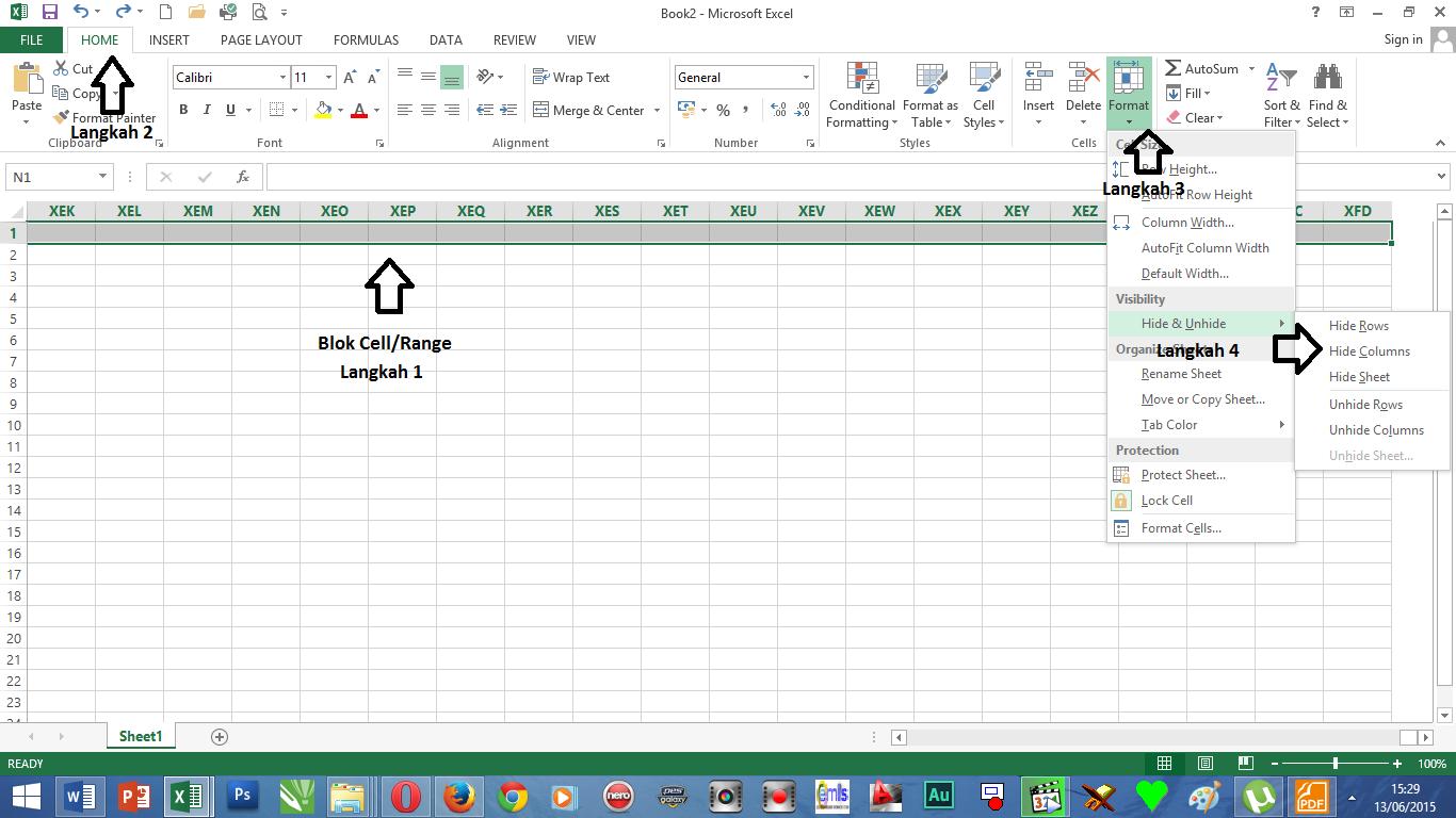 Cara Membatasi Tampilan Kolom Dan Baris Worksheet Excel