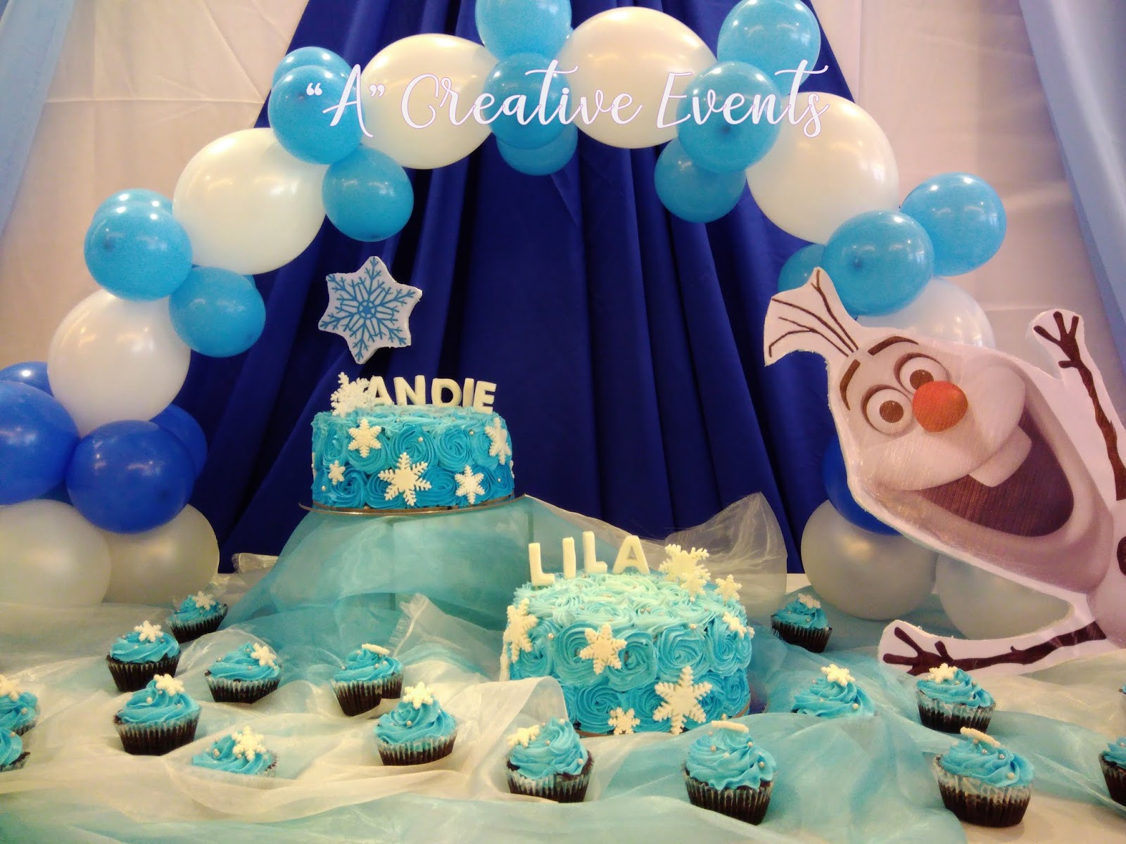 Andie and Lila's Frozen Themed Party Cakes and Cupcakes - Davao City