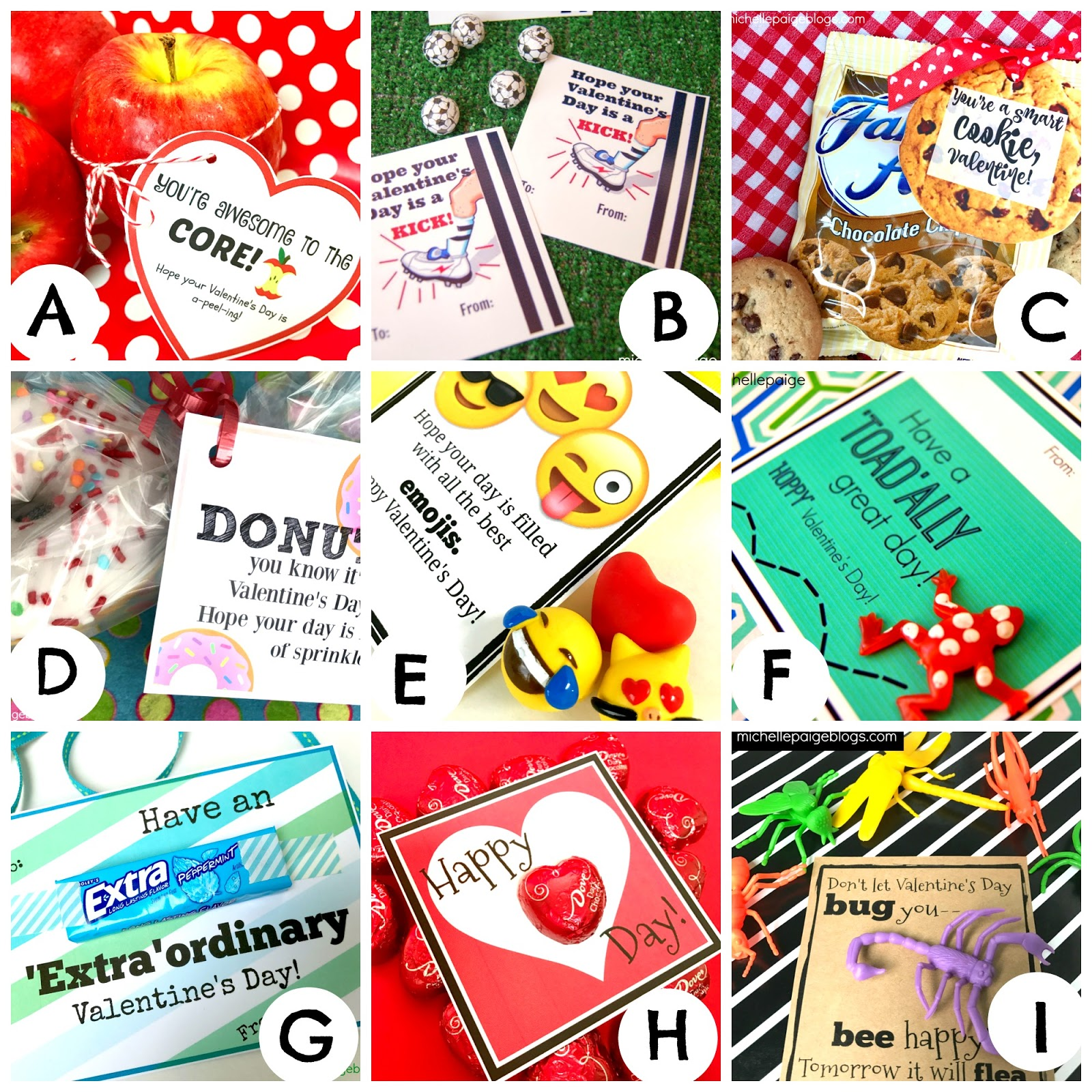 Michelle Paige Blogs Boy Valentines Printable Cheesy Valentines