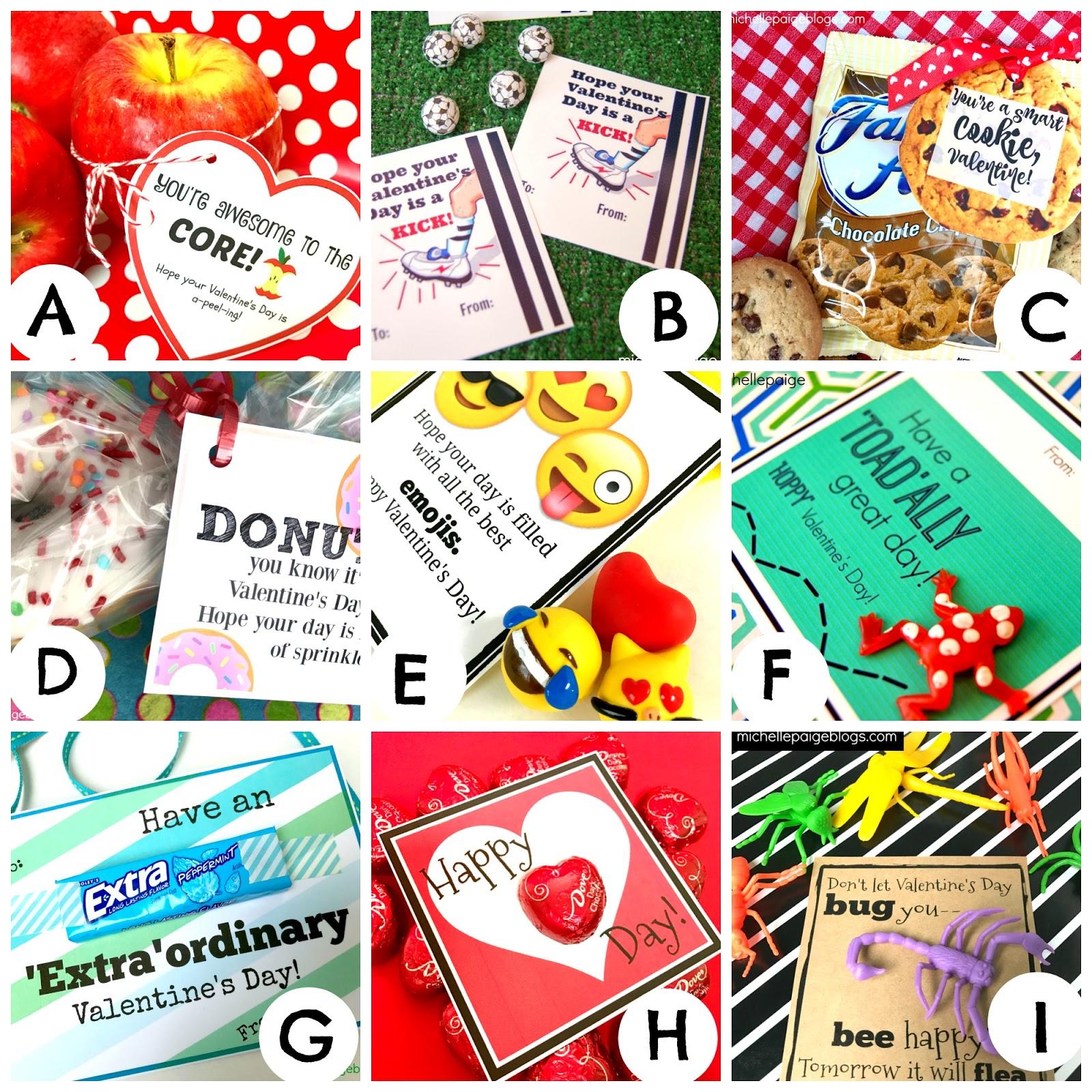 Michelle Paige Blogs Donut Pun Printable Valentines