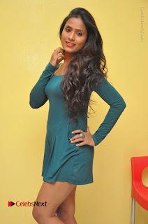 Telugu Actress Prasanthi Stills in Green Short Dress at Swachh Hyderabad Cricket Press Meet  0033.JPG