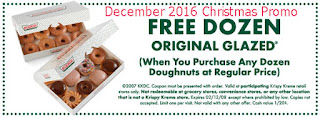 free Krispy Kreme coupons for december 2016