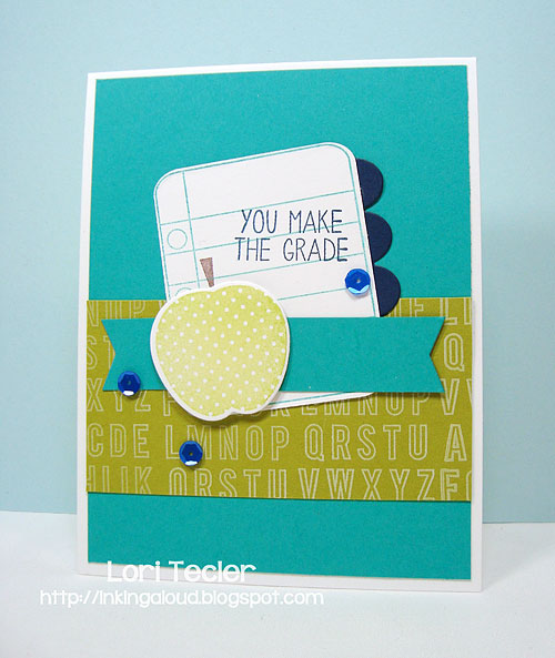 You Make the Grade card-designed by Lori Tecler/Inking Aloud-stamps and dies from Reverse Confetti