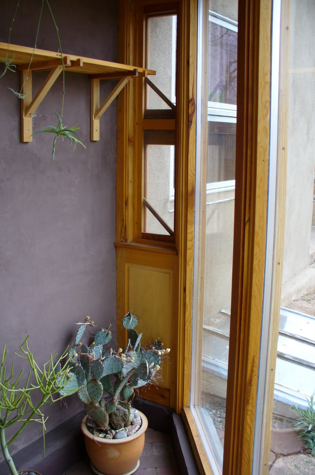 kitchen greenhouse window 3 piece table alt build blog passive solar 2 trombe walls and a