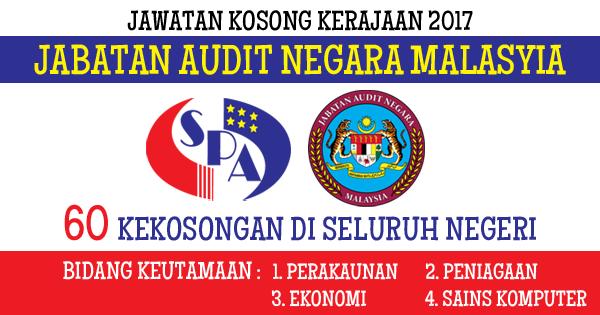 jawatan kosong jabatan audit negara malaysia