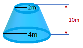 o volume de um tronco de cone