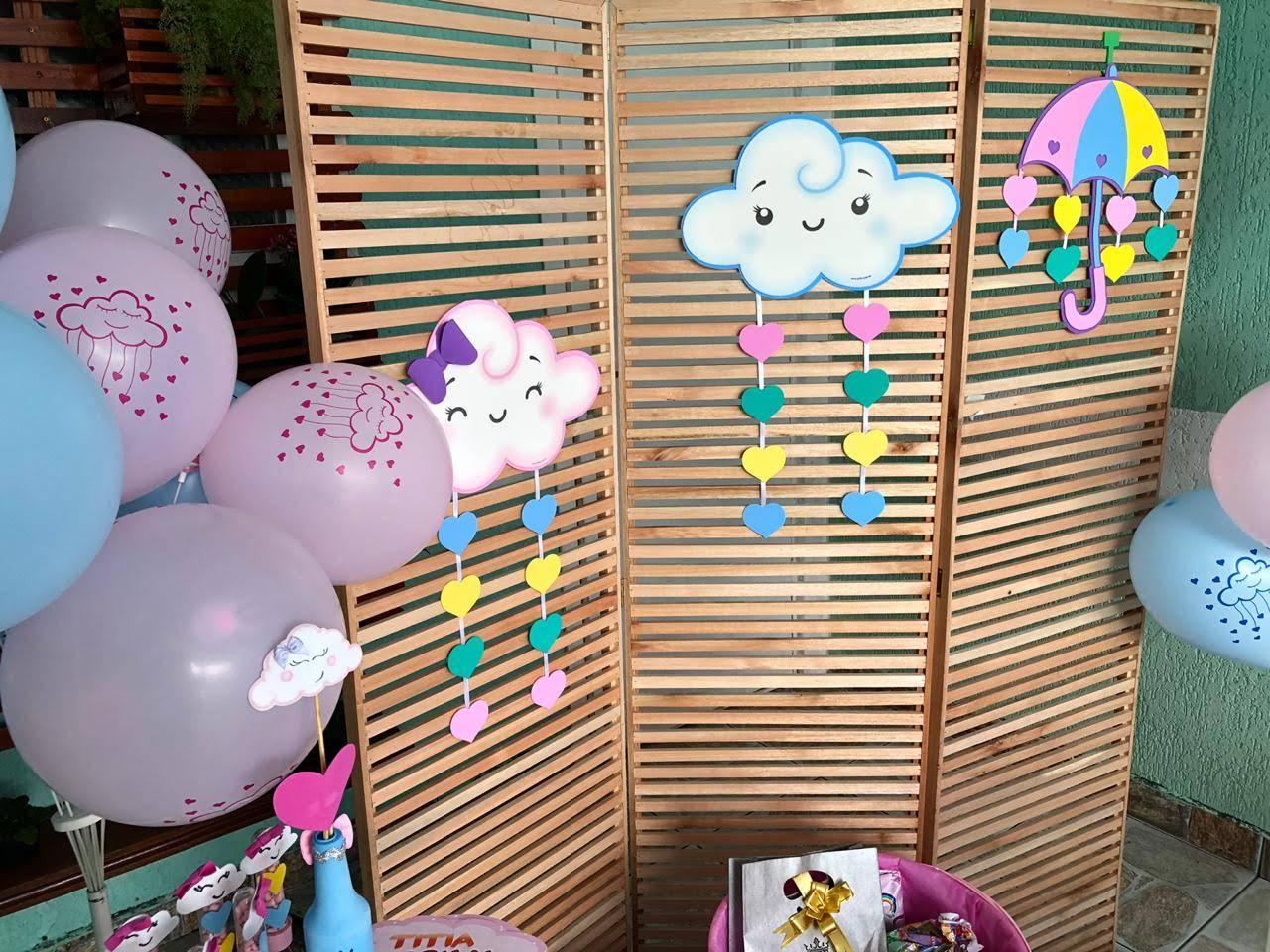 Chá de bebê chuva de bençãos - chuva de amor