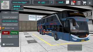 Riview Livery Bus BUSSID Sempati Star SHD  + Link Download Livery Bus BUSSID Sempati Star SHD