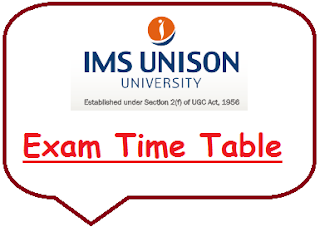 IMS Unison University Time Table 2020