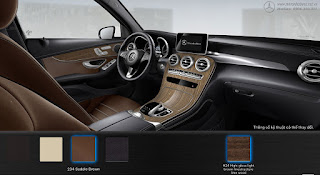 Nội thất Mercedes GLC 250 4MATIC 2017 màu Nâu Saddle 234