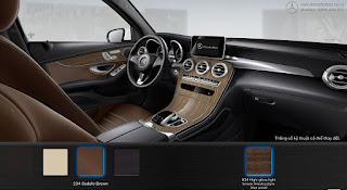 Nội thất Mercedes GLC 300 4MATIC Coupe 2016 màu Nâu Saddle 234