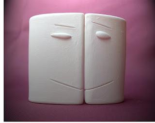 sculpture amoureux pour saint valentin simple visages coeur