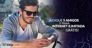 Indique 5 Amigos e Tenha Internet Ilimitada Grátis!