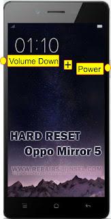 Hard Reset Oppo Mirror 5 Test 100% Sukses