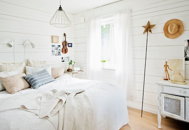 dormitor scandinav in alb