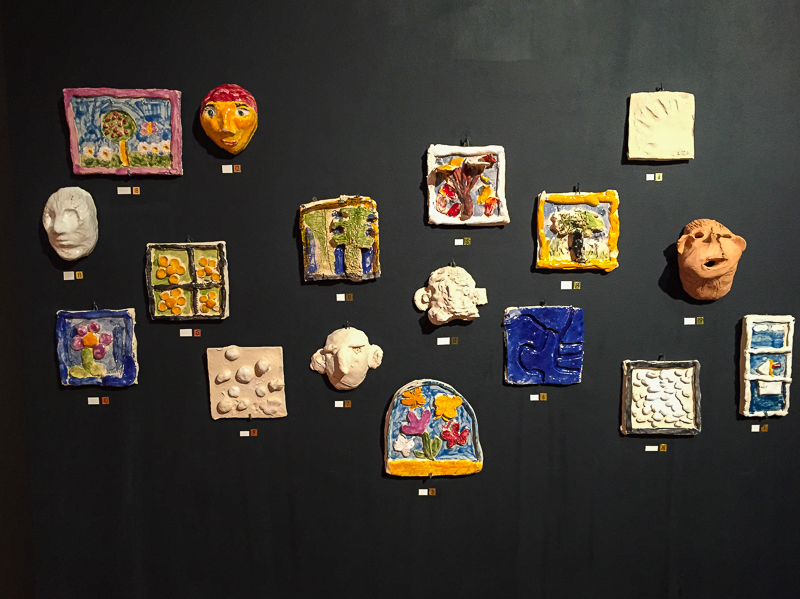Ceramic work of the visually impaired in the typhlological museum in zagreb