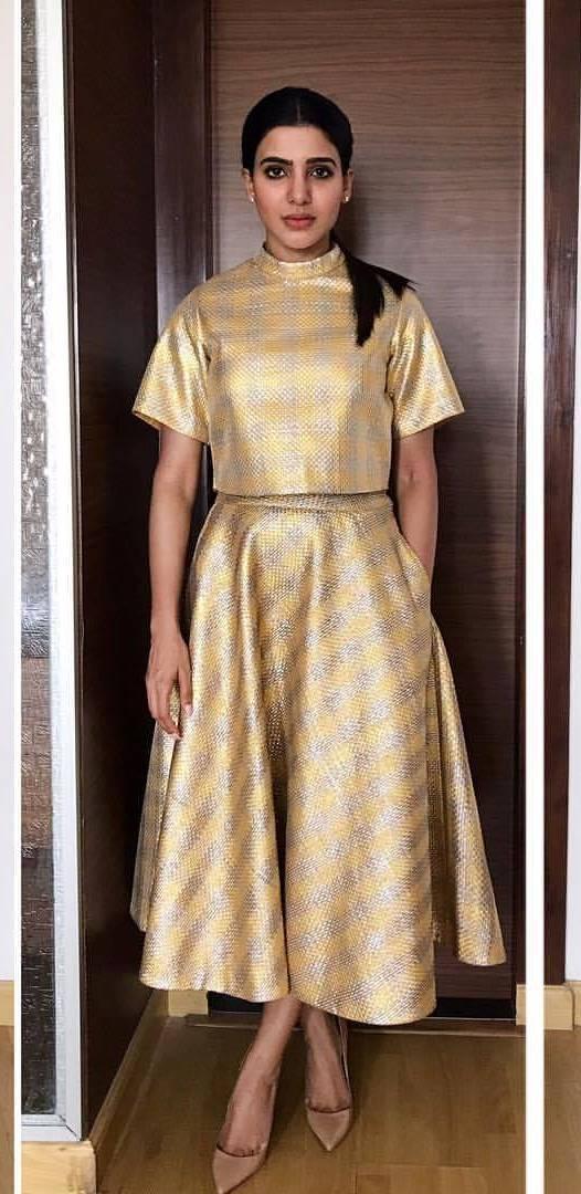 Samantha Hot Photo shoot In Yellow Dress 2017