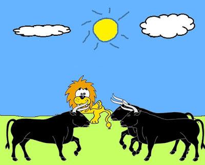 el leon y los tres bueyes fabula esopo