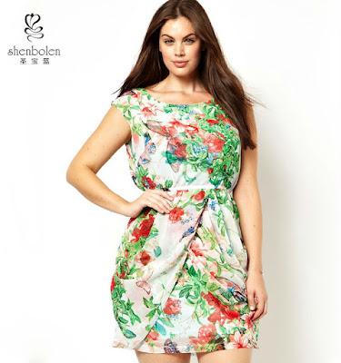 vestidos estampados de flores para gorditas
