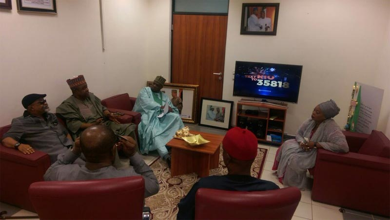 Labour minister Chris Ngige visits senator Rafiu Ibrahim