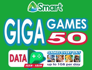 Smart Giga Games 50 – 1GB Data + 1GB/day for ML, AOV, COC and more