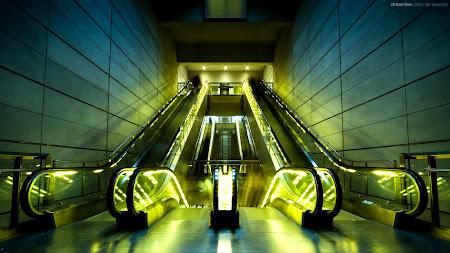 Escalators in Copenhagen HD