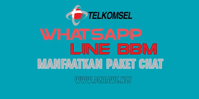 Cara Menggunakan Paket Chat Whatsapp, Line, BBM Telkomsel