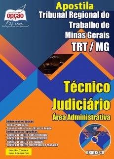Apostila TRT 3ª MG 2015 Cargos Técnico Judiciário