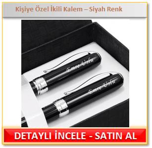 Kişiye Özel İkili Kalem Siyah Renk