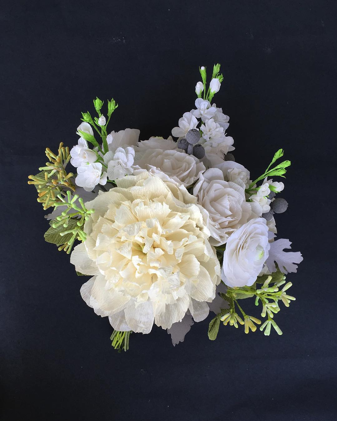 Paper Flower Wedding Bouquet Handmade Paper Flowers By Maria Noble