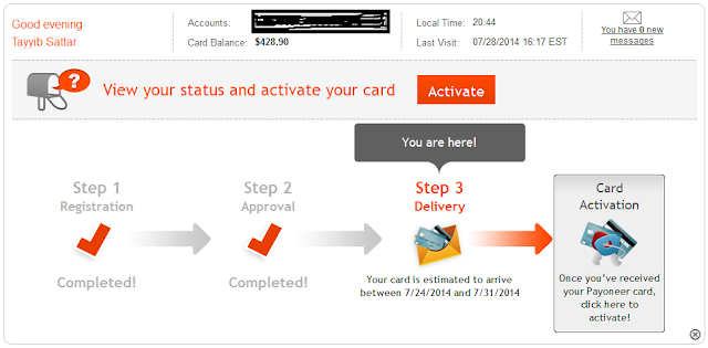 How to activate payoneer card, Open US bank Account