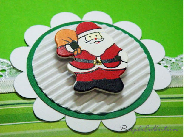 The Little Red Santa, red, green, santa