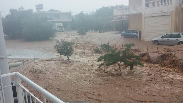 Εικόνες καταστροφής στο Μαυρούδι Ηγουμενίτσας