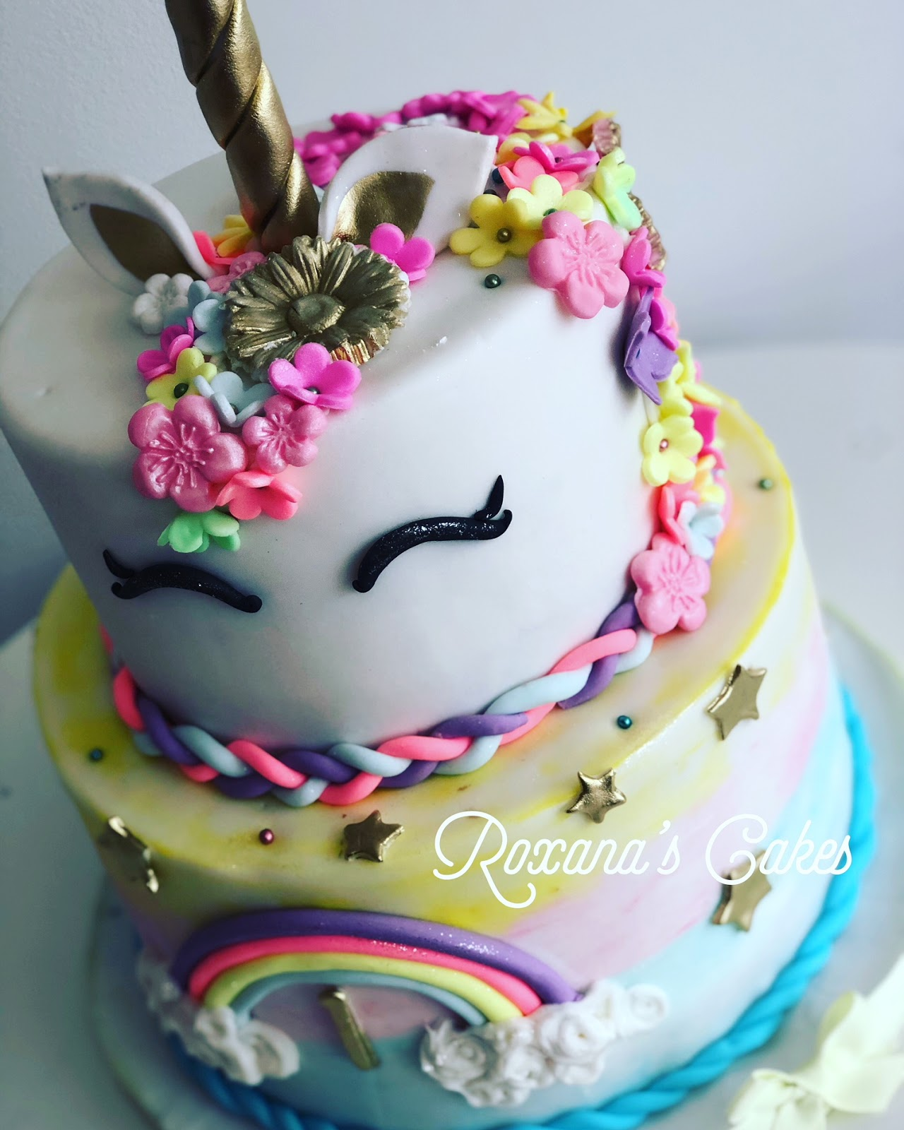 1st Birthday Unicorn Themed Cake