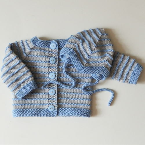 Newborn Baby Boy Sweater - Knitting Pattern