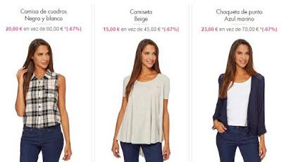 Camisetas, camisas y chaquetas para mujer