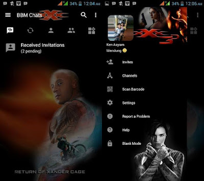 Download BBM Mod Transparent Triple-X 3 v3.2.5.12 APK